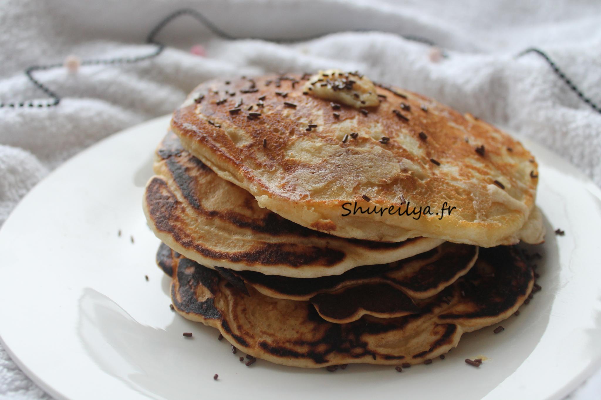 Big pancakes américains – banane